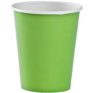 9oz Lime Green Paper Cup 12 Count (Case Qty: 432)