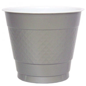 9 oz. Plastic Co-Ex Cup - Silver - 50 Count (Case Qty: 600)