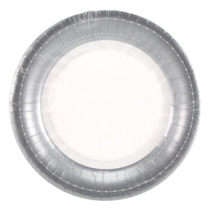 "Beaded - Silver - 10"" Plate (Case Qty: 648)"