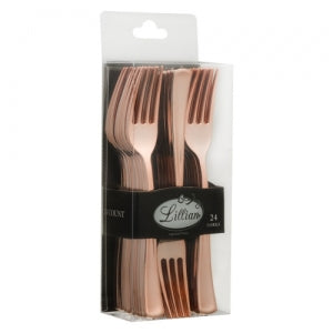 Cutlery - Polished Rose Gold - Fork - Acetate Box - 24 Count (Case Qty: 576)