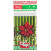 "Poinsettia Wreath - 54"" x 96"" Tablecover (Case Qty: 72)"