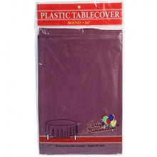 "84"" Berry Round Plastic Tablecover 36 Count (Case Qty: 36)"