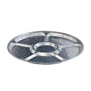 "Aluminum 16"" Lazy Susan/Compartment Platter (Case Qty: 25)"