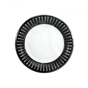 "Black Décor - 7"" Plate (Case Qty: 1296)"