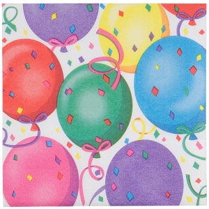 Healy's Balloons Lunch Napkin 24 Count (Case Qty: 1728)
