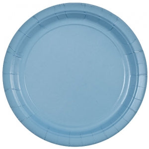 "9"" Light Blue Round Paper Plate 20 Count (Case Qty: 720)"
