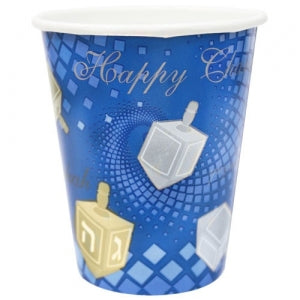 9oz Chanukah Square Paper Hot/Cold Cup 16 Count (Case Qty: 576)
