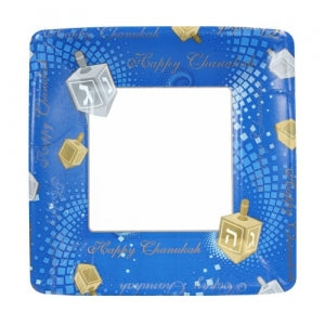 "7"" Chanukah Square Paper Plates 16 Count (Case Qty: 576)"