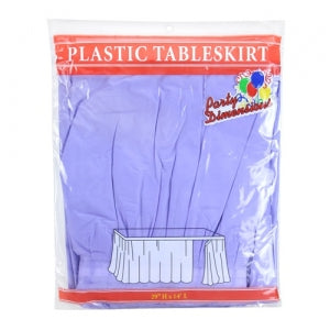 "29"" X 14'' Hydrangea Plastic Tableskirt 36 Count (Case Qty: 36)"