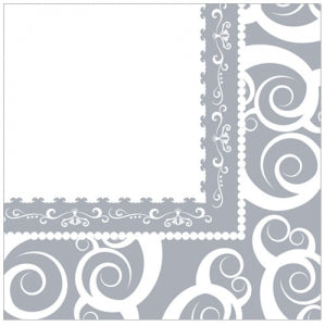 Silver Medley Lunch Napkin 40 Count (Case Qty: 1440)