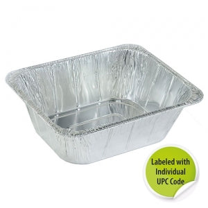 Aluminum 1/2 Extra Deep Pan - Individually Labeled with UPC  (Case Qty: 100)
