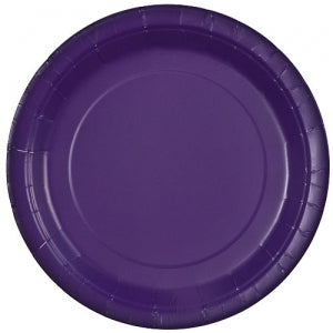 "9"" Purple Round Paper Plate 20 Count (Case Qty: 720)"