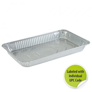 Aluminum Full Size Medium Deep Pan - Individually Labeled with UPC (Case Qty: 50)