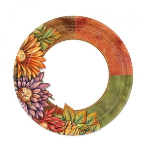 "7"" Floral Art Paper Plate 16 Count (Case Qty: 1152)"