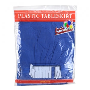 "29"" X 14'' Blue Plastic Tableskirt 36 Count (Case Qty: 36)"