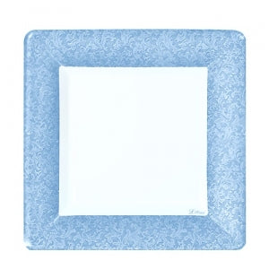 "Blue Texture 7"" Square Dinner Plate 24 Ct. (Case Qty: 576)"