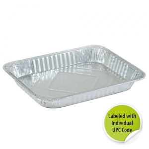 Aluminum 1/2 Size Shallow Pan - Individually Labeled with UPC(Case Qty: 100)