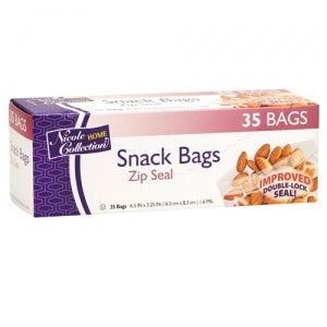 Snack Bags - Zip Seal Bags - 35 Count (Case Qty: 1680)