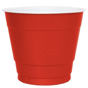 9 oz. Plastic Co-Ex Cup - Red - 50 Count (Case Qty: 600)