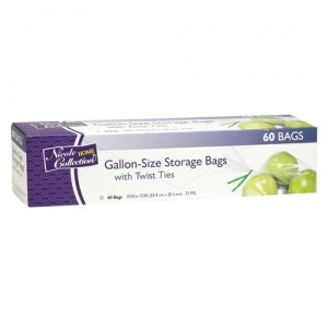 Gallon - Food Storage Bags with Ties - 60 Count (Case Qty: 1440)