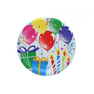 "Birthday Balloons - 7"" Paper Plates - 16 Count (Case Qty: 576)"