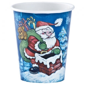 9oz Christmas Santa Paper Hot/Cold Cup 12 Count (Case Qty: 864)