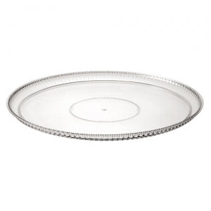 "Ridged - 12"" Round Tray - Clear (Case Qty: 24)"