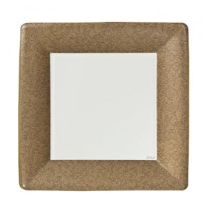 "Texture Gold 7"" Square Dinner Paper Plates (Case Qty: 576)"