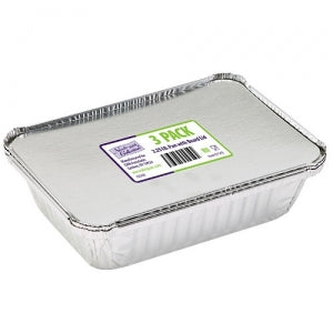 Aluminum 2 1/4 Lb Pan with Board Lid 3 Count (Case Qty: 144)