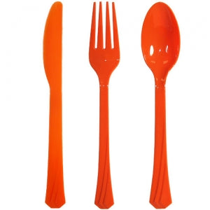Orange Heavyweight Cutlery Combo 24 Count (Case Qty: 576)