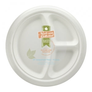"Sugar Cane - Earth Friendly - 10"" Compartment Plate (Case Qty: 600)"