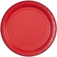 "9"" Red Round Paper Plate 20 Count (Case Qty: 720)"