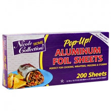 Pre-Cut Aluminum Foil Sheets 200 Count (Case Qty: 2400)