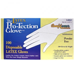 Large Latex Powder Free Gloves (Case Qty: 1000)