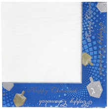 Chanukah Square Lunch Napkin 36 Count (Case Qty: 1296)