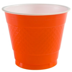 9 oz. Plastic Co-Ex Cups - Orange - 50 Count (Case Qty: 600)
