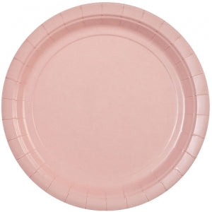 "9"" Light Pink Round Paper Plate 20 Count (Case Qty: 720)"