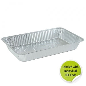 Aluminum Full Size Deep Pan - Individually Labeled with UPC (Case Qty: 50)