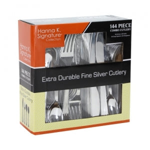 Polished Silver Cutlery Combo - 144 count - Boxed (Case Qty: 1728)