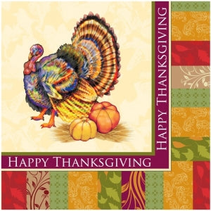 Fall Turkey Lunch Napkin 24 Count (Case Qty: 1728)