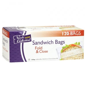 Sandwich - Fold & Close Bags - 120 Count (Case Qty: 5760)