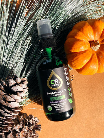 BROAD SPECTRUM HEMP EXTRACT BODY & MASSAGE OIL