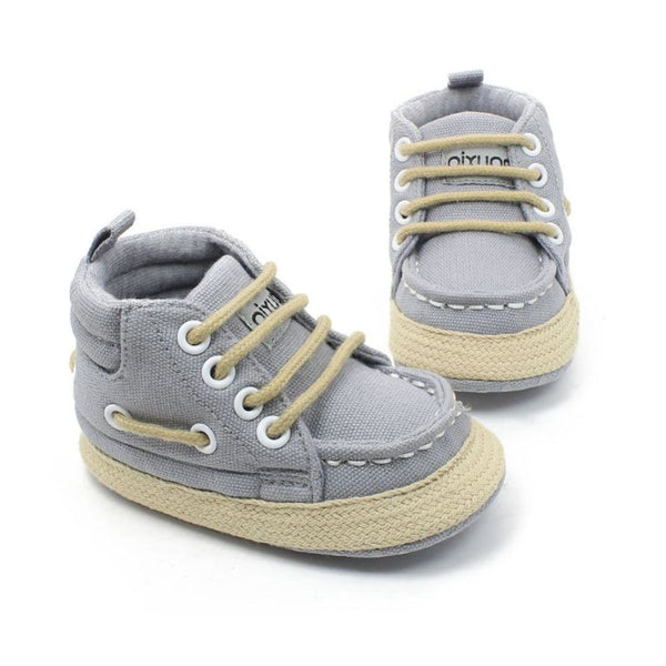 0-18M Baby Soft Bottom High-top Casual Strap Shoes Anti-slip Infant Prewalker Boy Girl Toddler