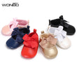 0-18M Toddler Baby Girl PVC Leather Princess Shoes Spring/Autumn Soft bottom shoes bowknot Infant