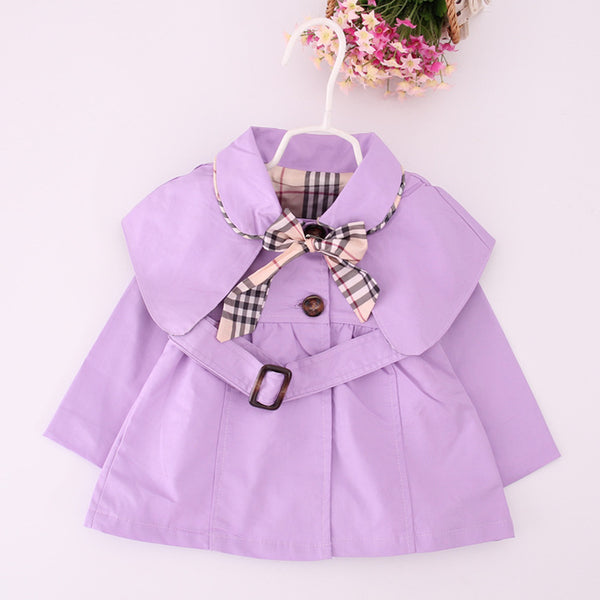 0-2Y Baby Girls Coat Spring Autumn Tops Kids Jacket Outerwear & Coat Children Clothing Toddler Clothes