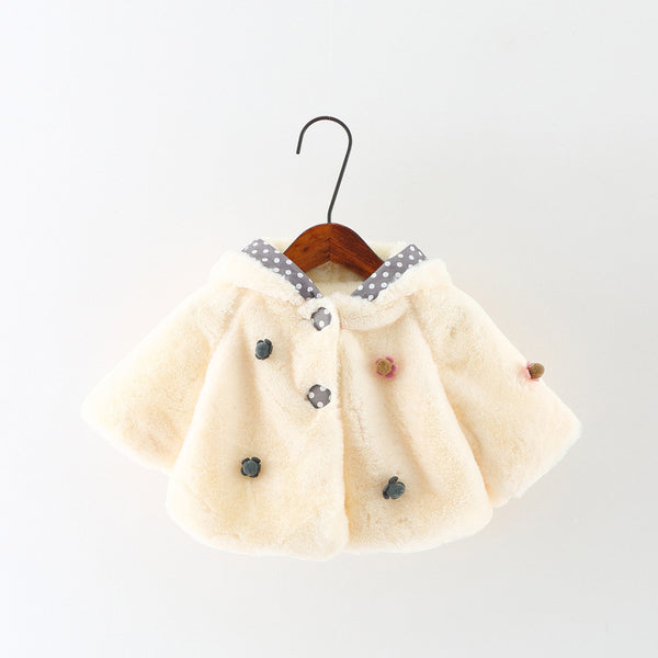 0-2Y Cute Rabbit Ear Hooded Baby Girls Coat New Autumn Tops Kids Warm Jacket Outerwear & Coat Children Clothing Baby Wear