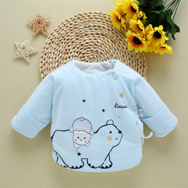 0-3M Newborn Baby Clothes Coat Fashion Warm Cotton Snow wear Boy Girl's Winter Tops Long Sleeve Casual Clothing for Children