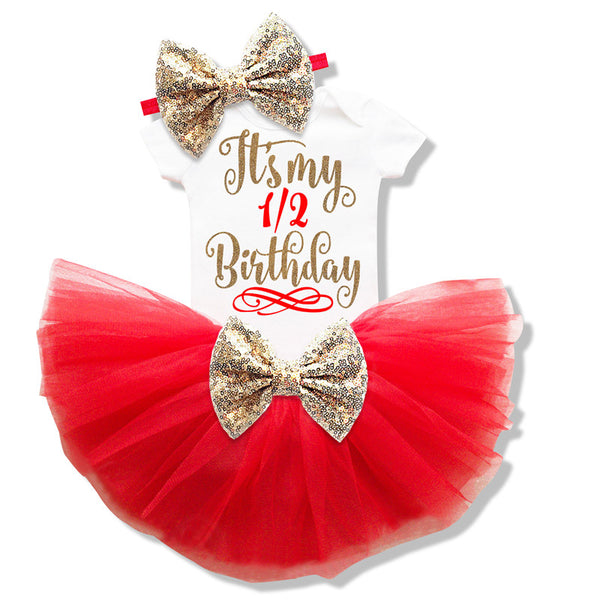 1 2 Years Baby Birthday Sets Toddler Bebes Outfit Infant Christening Suits For Baby Girl Gift Tutu