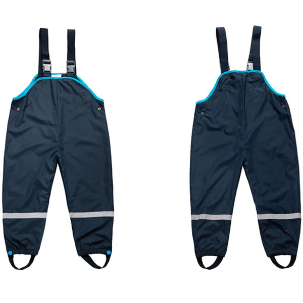 1-7 Years Girls Boys Waterproof Overalls Baby Kids Padded Trousers Outdoor Pants High Quality