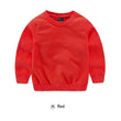 10 colors 2-7 T Hot Baby Children Clothes Boys Girls Candy Color Sweatershirts  Kids Spring